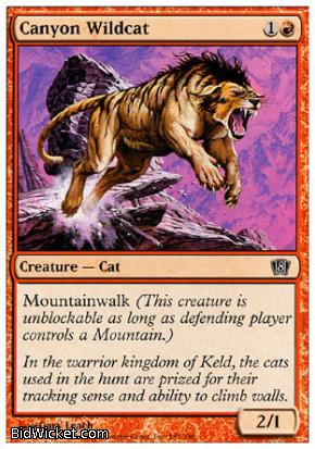 Canyon Wildcat, 8th Edition, Magic the Gathering