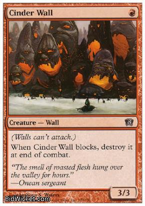 Cinder Wall, 8th Edition, Magic the Gathering