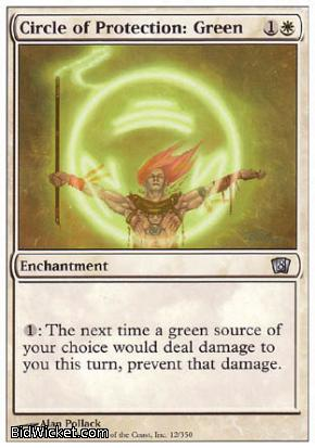 Circle of Protection: Green, 8th Edition, Magic the Gathering