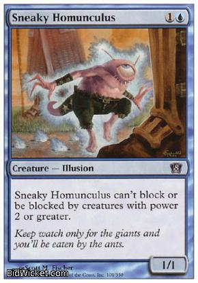 Sneaky Homunculus, 8th Edition, Magic the Gathering