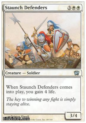 Staunch Defenders, 8th Edition, Magic the Gathering