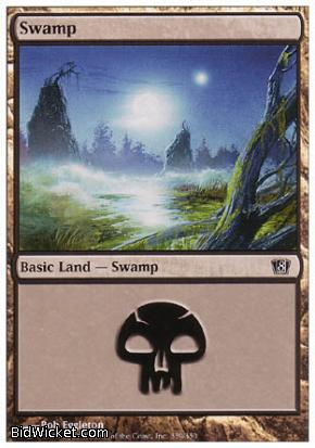 Swamp (339), 8th Edition, Magic the Gathering
