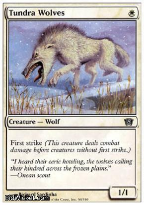 Tundra Wolves, 8th Edition, Magic the Gathering