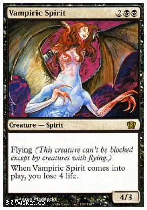 Vampiric Spirit, 8th Edition, Magic the Gathering