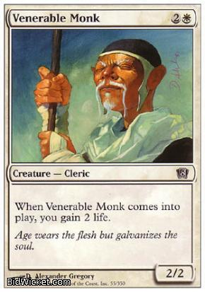 Venerable Monk, 8th Edition, Magic the Gathering