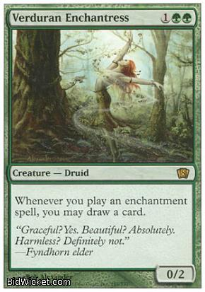 Verduran Enchantress, 8th Edition, Magic the Gathering