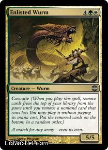 Enlisted Wurm, Alara Reborn, Magic the Gathering