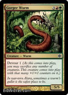 Gorger Wurm, Alara Reborn, Magic the Gathering