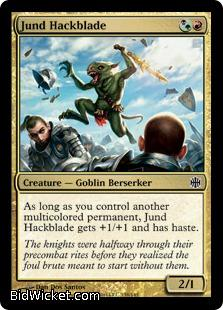 Jund Hackblade, Alara Reborn, Magic the Gathering