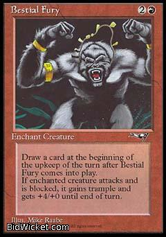 Bestial Fury (1), Alliances, Magic the Gathering