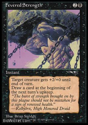 Fevered Strength (1), Alliances, Magic the Gathering