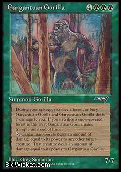 Gargantuan Gorilla, Alliances, Magic the Gathering