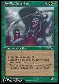 Gorilla Berserkers (1), Alliances, Magic the Gathering