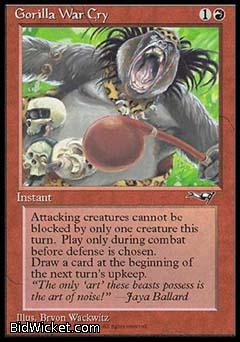Gorilla War Cry (1), Alliances, Magic the Gathering