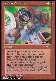 Gorilla War Cry (2), Alliances, Magic the Gathering