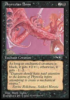 Phyrexian Boon (1), Alliances, Magic the Gathering
