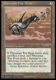 Phyrexian War Beast (2), Alliances, Magic the Gathering