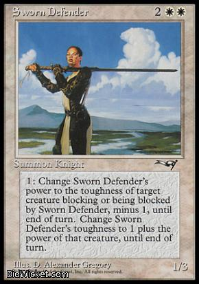 Sworn Defender, Alliances, Magic the Gathering