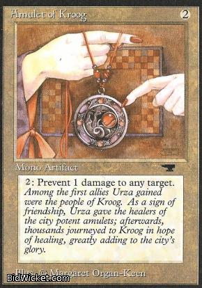 Amulet of Kroog, Antiquities, Magic the Gathering