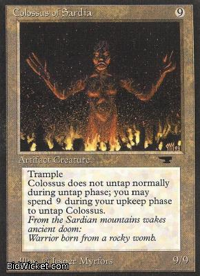 Colossus of Sardia, Antiquities, Magic the Gathering