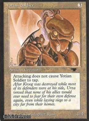 Yotian Soldier, Antiquities, Magic the Gathering