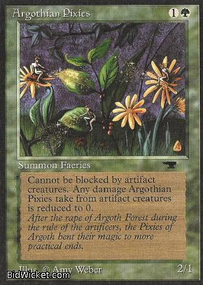 Argothian Pixies, Antiquities, Magic the Gathering