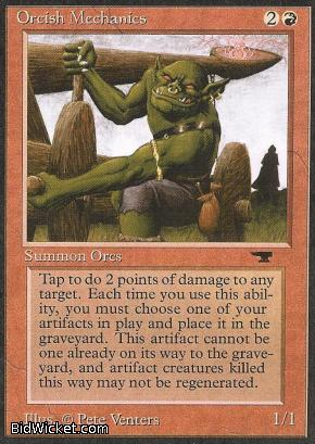 Orcish Mechanics, Antiquities, Magic the Gathering