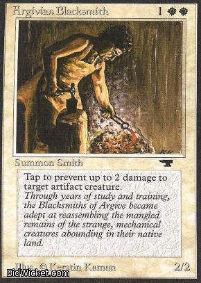Argivian Blacksmith, Antiquities, Magic the Gathering