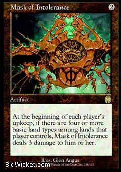 Mask of Intolerance, Apocalypse, Magic the Gathering