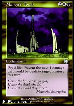 Martyrs' Tomb, Apocalypse, Magic the Gathering