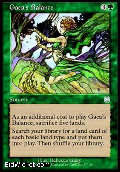 Gaea's Balance, Apocalypse, Magic the Gathering