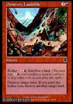 Dwarven Landslide, Apocalypse, Magic the Gathering