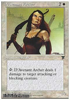 D'Avenant Archer, Chronicles, Magic the Gathering