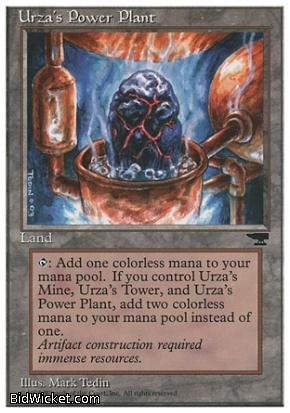 Urza's Power Plant (4), Chronicles, Magic the Gathering