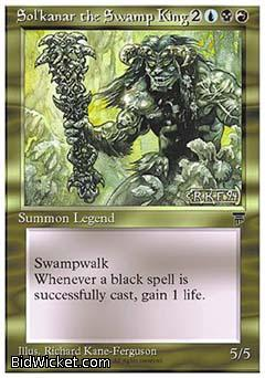 Sol'kanar the Swamp King, Chronicles, Magic the Gathering