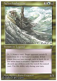 Nebuchadnezzar, Chronicles, Magic the Gathering