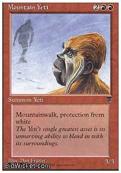 Mountain Yeti, Chronicles, Magic the Gathering