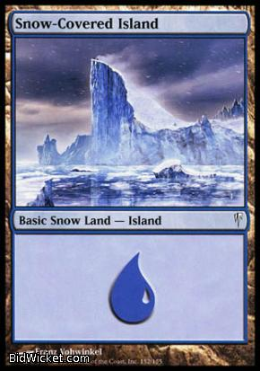 Snow-Covered Island, Coldsnap, Magic the Gathering