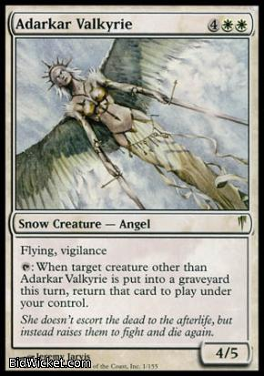 Adarkar Valkyrie, Coldsnap, Magic the Gathering