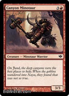 Canyon Minotaur, Conflux, Magic the Gathering