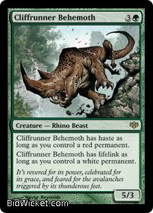 Cliffrunner Behemoth, Conflux, Magic the Gathering