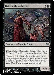 Grixis Slavedriver, Conflux, Magic the Gathering