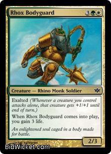 Rhox Bodyguard, Conflux, Magic the Gathering