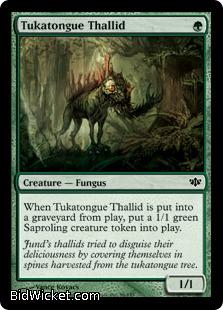 Tukatongue Thallid, Conflux, Magic the Gathering