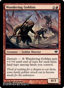 Wandering Goblins, Conflux, Magic the Gathering