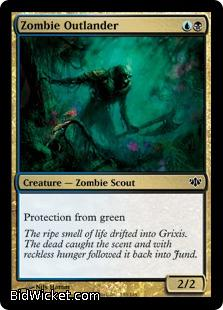 Zombie Outlander, Conflux, Magic the Gathering