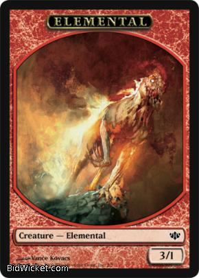 Elemental Token, Conflux, Magic the Gathering