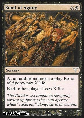 Bond of Agony, Dissension, Magic the Gathering