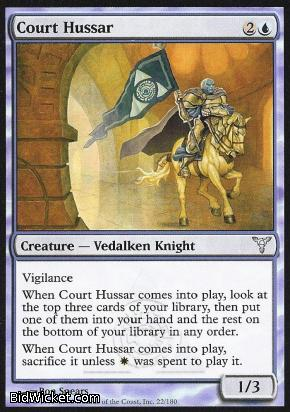 Court Hussar, Dissension, Magic the Gathering