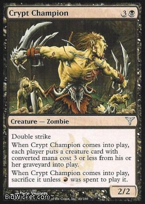 Crypt Champion, Dissension, Magic the Gathering